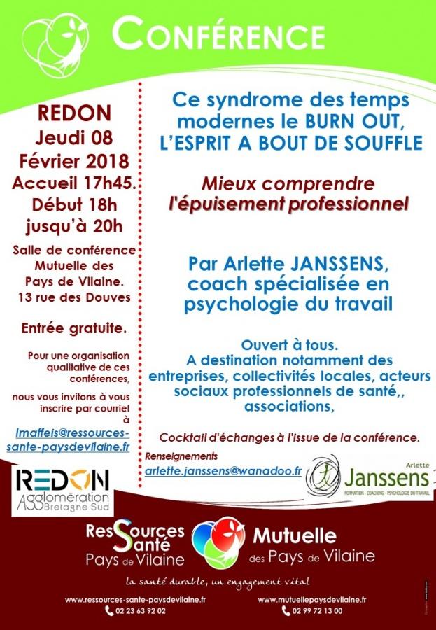 Conférence sur le Burn Out